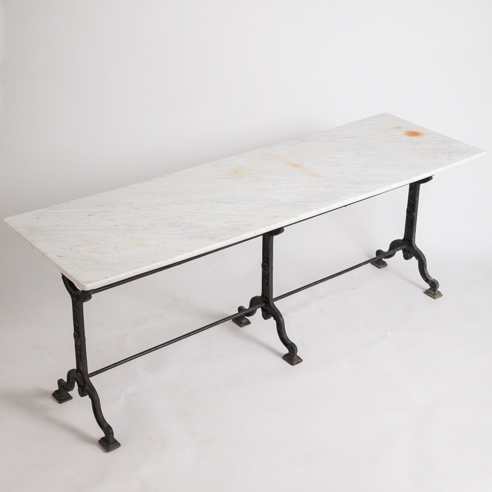 Sold a french antique bistro table with marble top circa 1900 for Table 7 bistro