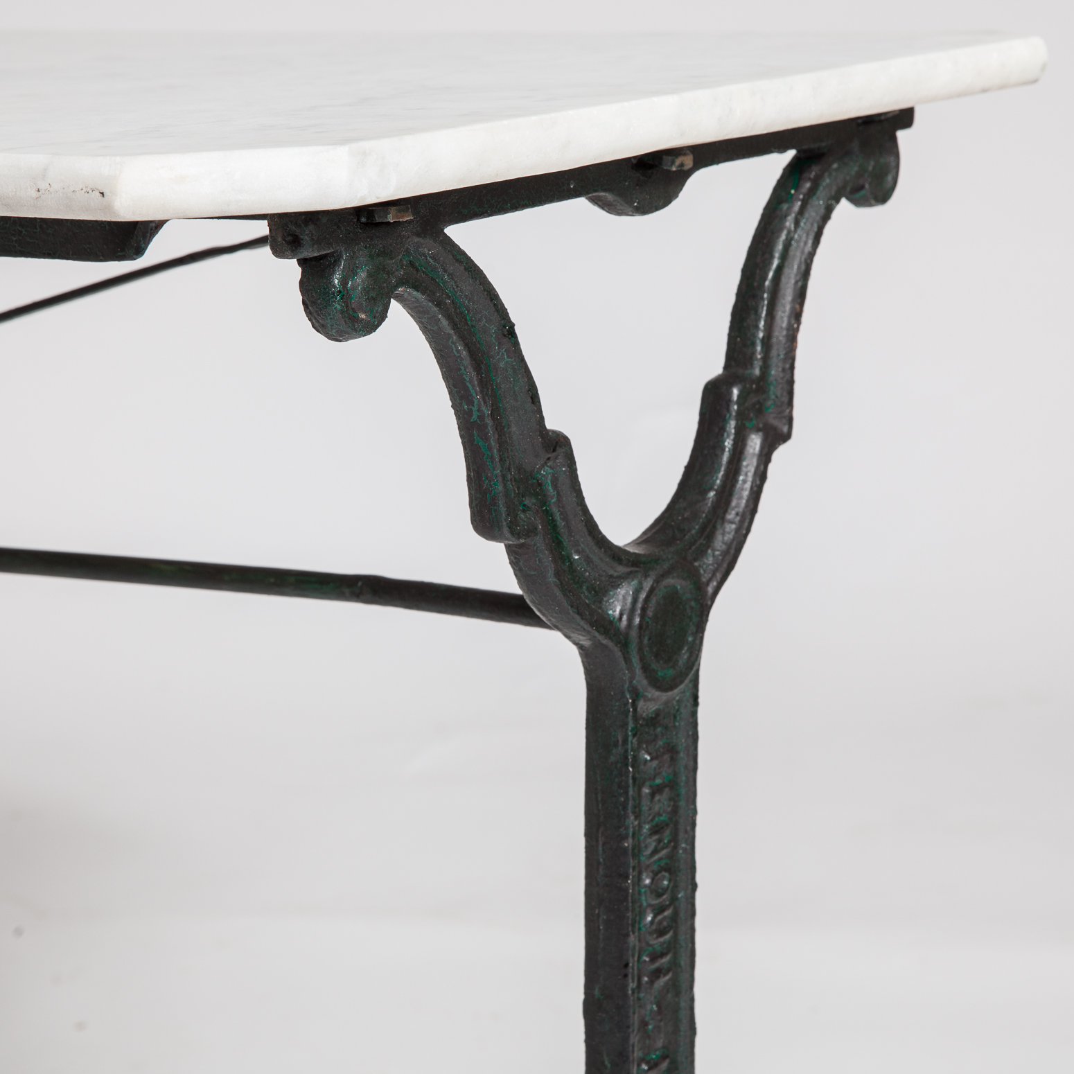 $3,800 58u201d Long 22u201d Wide 28u201d High. Marble Top French Antique Bistro Table  ...