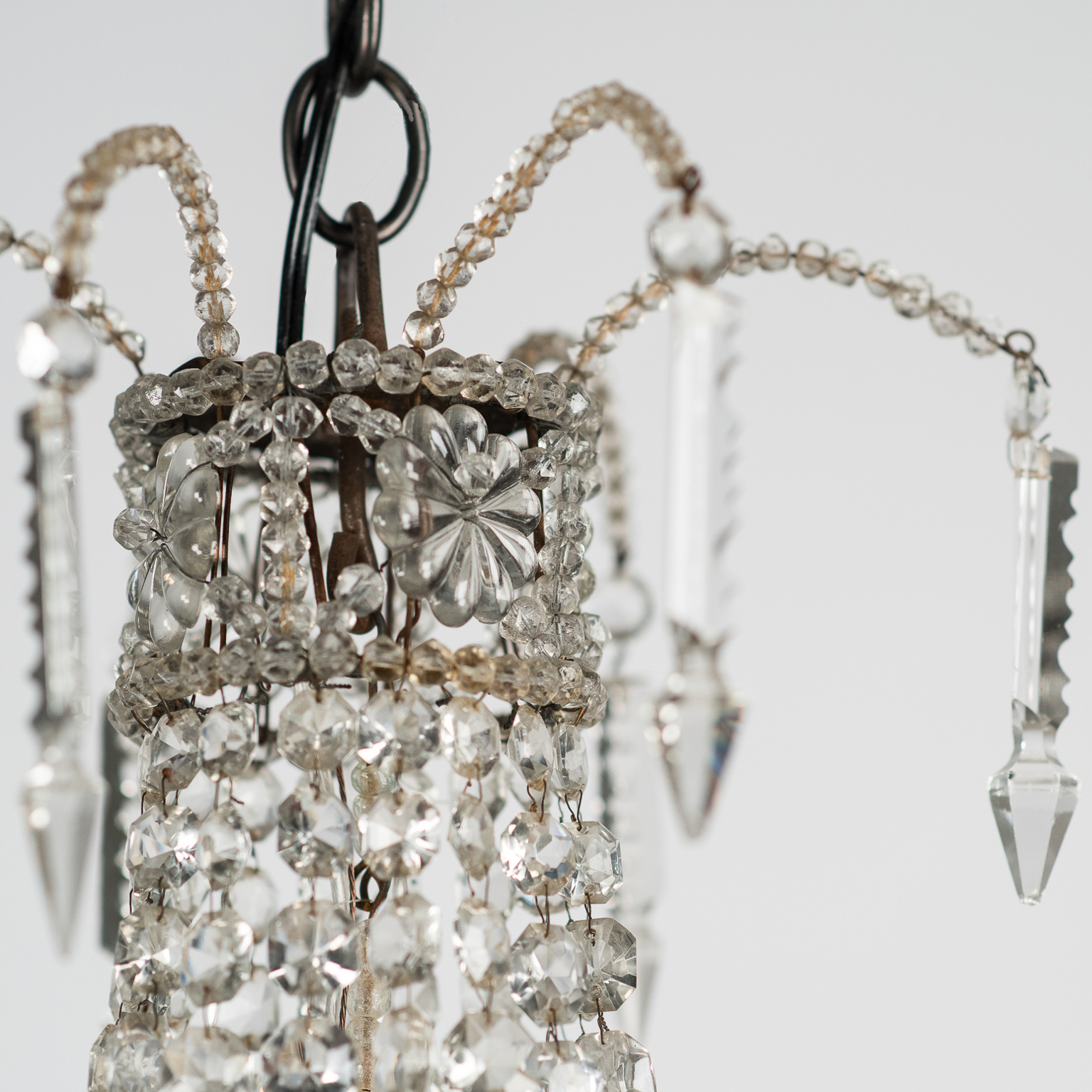 A small french crystal chandelier circa 1900 aloadofball Gallery