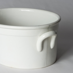 An English White Ironstone Footbath Circa 1880 (3 of 6)