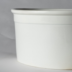 An English White Ironstone Footbath Circa 1880 (6 of 6)