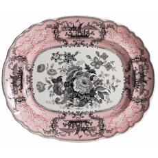 Pink Transfer Platter Dawn Hill Swedish Antiques
