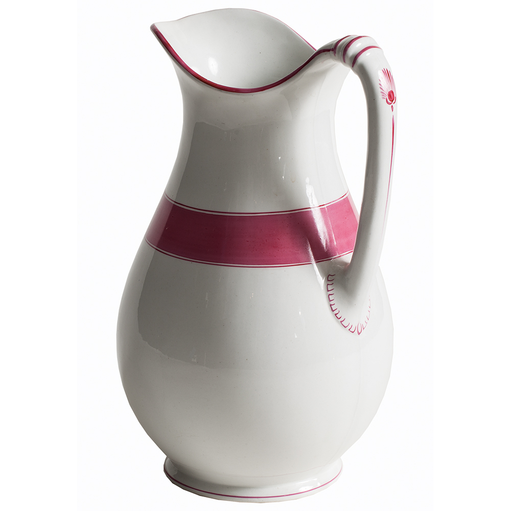 Pink Stripe Pitcher Dawn Hill Swedish Antiques