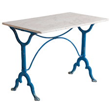 Dawn Hill Swedish Antiques French Marble Bistro Table