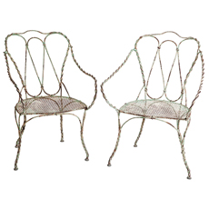 French Green Iron chairs Dawn Hill Swedish Antiques