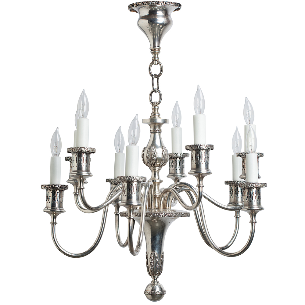 silver chandelier dawn hill swedish antiques