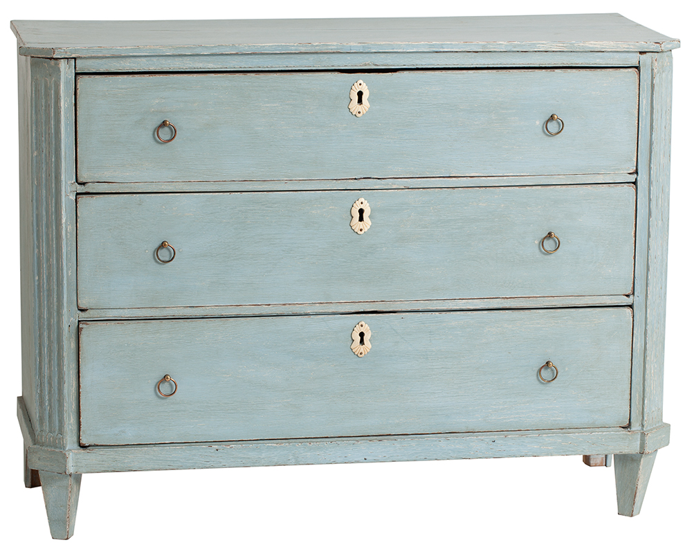 dutch blue chest Dawn Hill Swedish Antiques