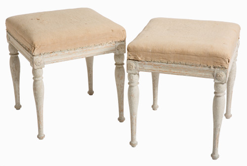 swedish antiques gustavian period stools original painted finish