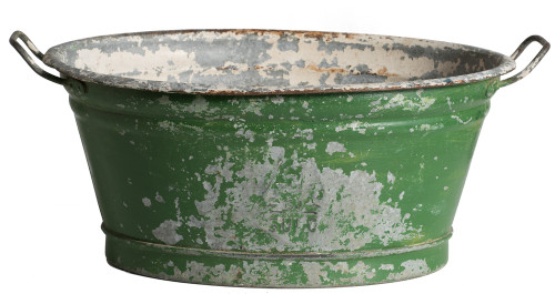 A French Zinc Footub with Old Green Patina Dawn Hill Swedish Antiques