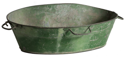 An American Green Painted Seed Spreader Dawn Hill Swedish Antiques