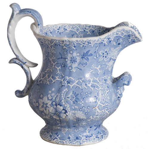 dawn hill swedish antiques blue transferware pitcher