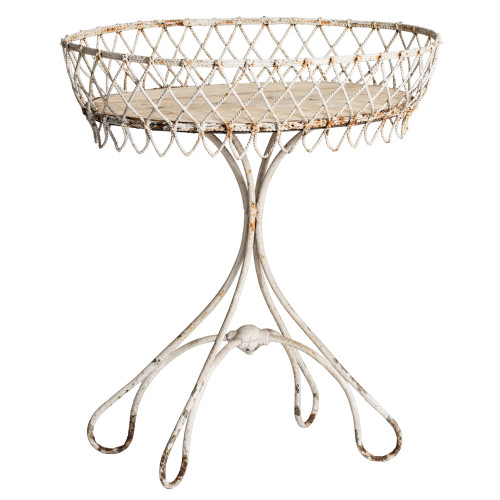 Dawn Hill Swedish Antiques French Wrought Iron Jardiniere