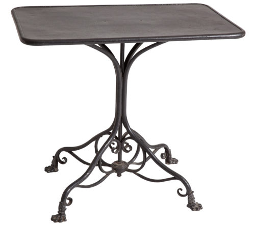 A French Table Marked Arras in Black Paint circa 1890 Dawn Hill Swedish Antiques