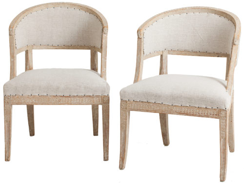 A Pair of Swedish Gustavian Period Barrel Back Armchairs original paint dawn hill swedish antiques