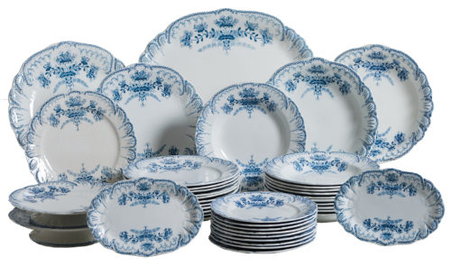 "A French Partial Dinner Service ""Regence"" Pattern, circa 1900 dawn hill swedish antiques"