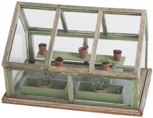 A Miniature Wooden Green House, American, circa 1920