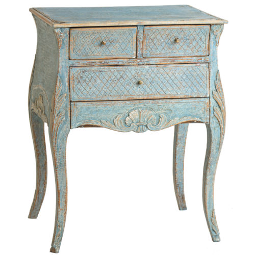 blue antique swedish night stand