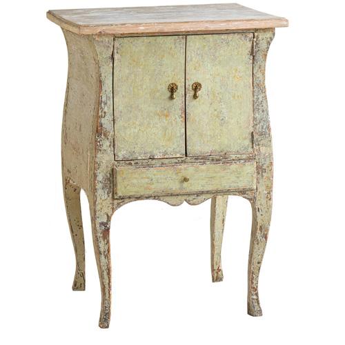 green swedish antique cabinet