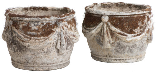 A Pair of French, Late 19th Century, Composition Stone Urns
