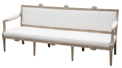 A Swedish Gustavian Period Settee from Lindome, Circa 1780