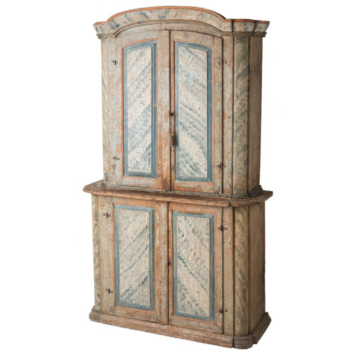 A Swedish Rococo Period Original Painted Cupboard from Bergslagen Sweden Circa 1770
