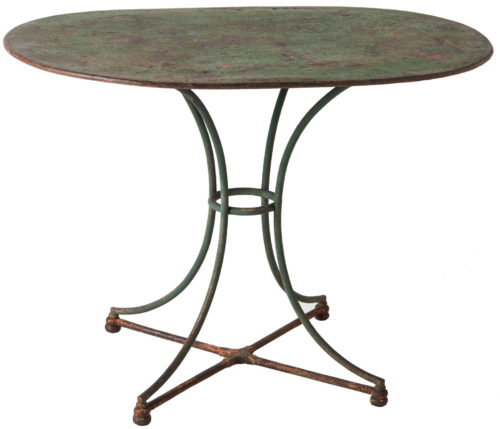 A French Green Painted Wrought Iron Center Table Circa 1880