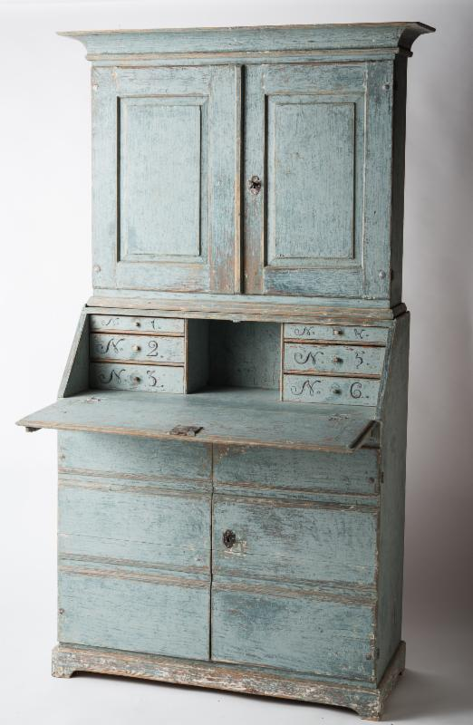 blue wedding swedish antique cupboard