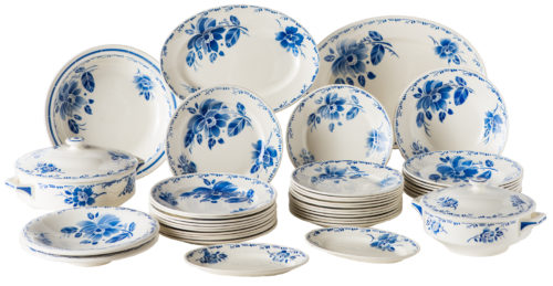 A French Partial Dinner Service by Keller & Guérin of Lunéville Circa 1930