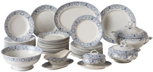 A French 49 Piece Partial Dinner Service Creil Et Montereau Circa 1880