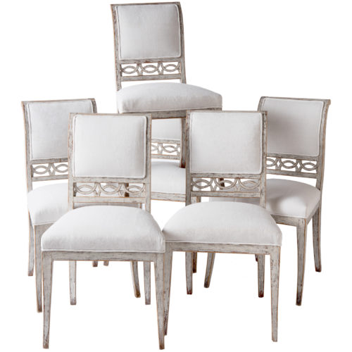 A Set of Six Swedish Stockholm Dining Chairs Circa 1790