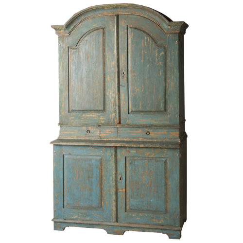 A Swedish Blue Original Painted Cupboard Circa 1858