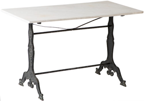 A French Marble Topped Bistro Table With Art Nouveau Base Circa 1920
