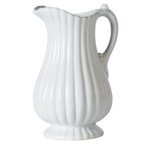 "An English Ironstone ""Full Ribbed"" Pitcher Circa 1850"