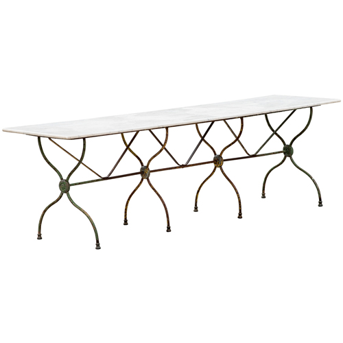 long marble top table nimes