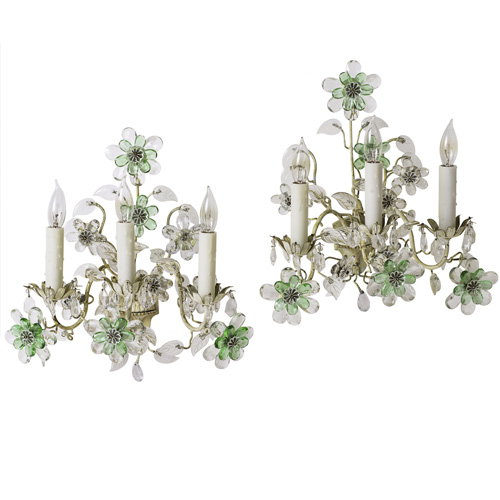 French Emerald Sconces