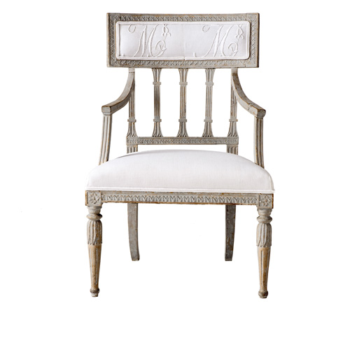 gustavian armchair