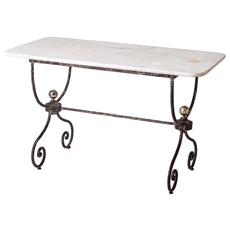 A French Marble Topped Table Late 19th Century