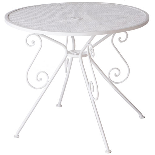 A Small French White Painted Garden Table Circa 1950