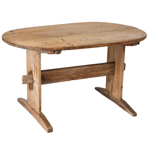 natural swedish trestle table