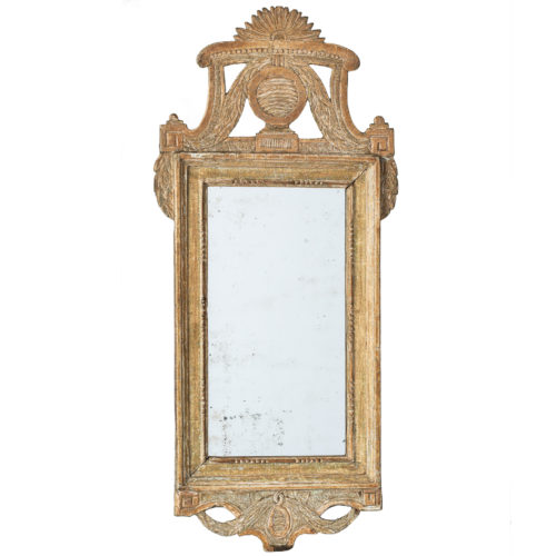 Signed Swedish Gustavian Period Mirror With Jönköping Stamp and Artist Initials Circa 1785