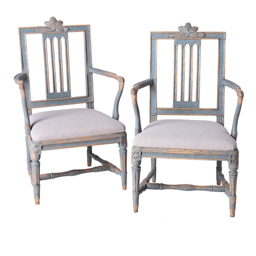 blue lindome armchairs