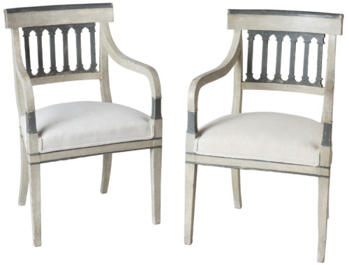 A Pair of Directoire Period Armchairs