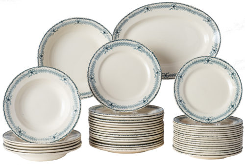 A French Forty Piece Partial Dinner Service Circa 1900