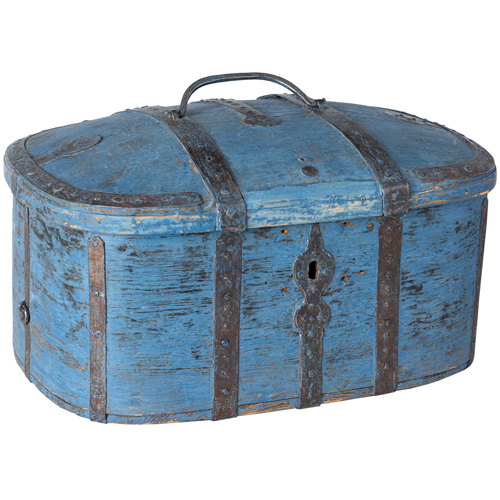 swedish travel box metal straps