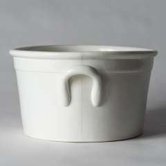 An English White Ironstone Footbath Circa 1880 (5 of 6)