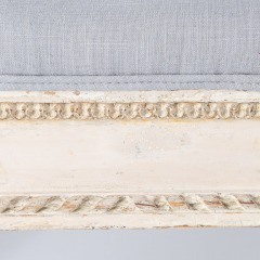 7-8119-Gustavian-Style-Bench-With-Contrasting-Grey-Fabric-1