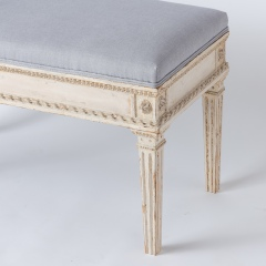 7-8119-Gustavian-Style-Bench-With-Contrasting-Grey-Fabric-4