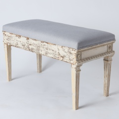 7-8119-Gustavian-Style-Bench-With-Contrasting-Grey-Fabric-8