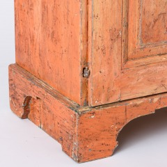 7-8135_Gustavian-Cabinet-with-Original-Coral-Paint-C.-1814-18