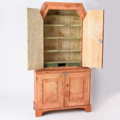 7-8135_Gustavian-Cabinet-with-Original-Coral-Paint-C.-1814-19